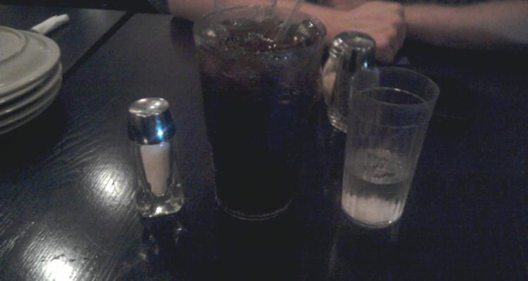 American Excess: huge-sizes cola. All I drunk that night.