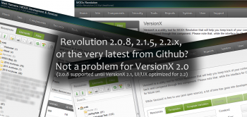 VersionX 2.0 finally available!