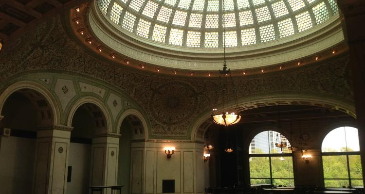 Nice architecture in the Chicago Cultural Centre