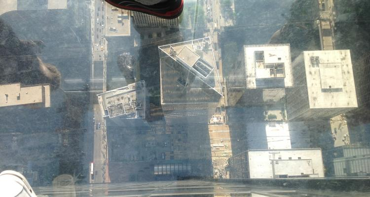 View from Sears', straight down 103 floors.